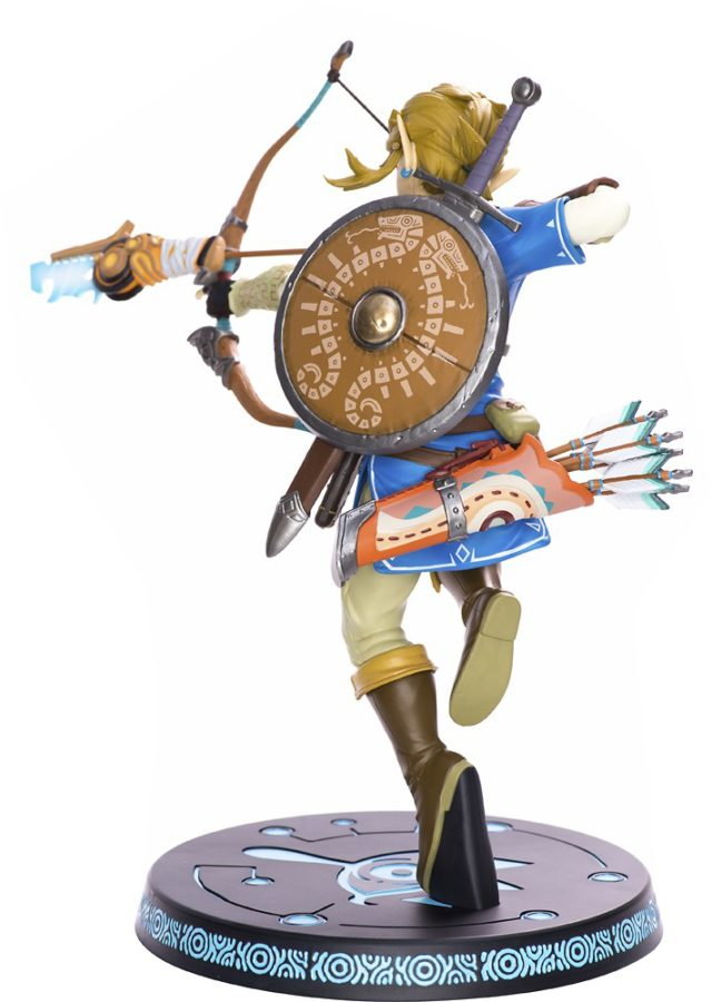 Back View of Nintendo Link Breath of the Wild Figure Statue by First 4 Figures