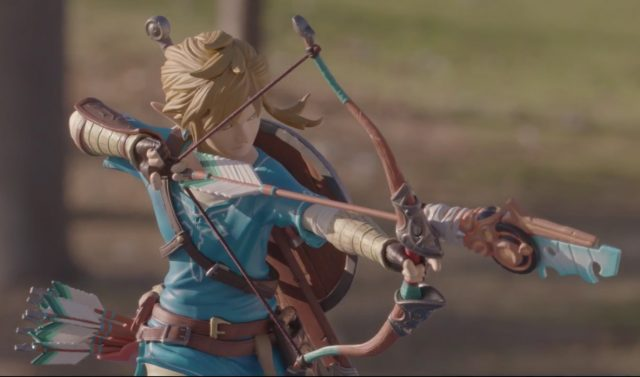 First4Figures Breath of the Wild Link PVC Statue Aiming Bow Arrow