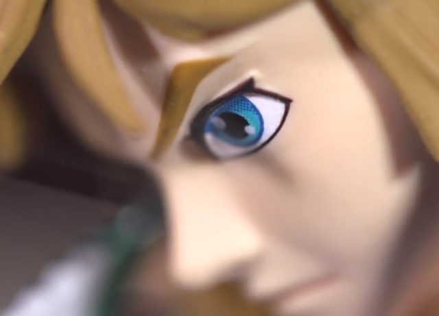 First4Figures Breath of the Wild Zelda Statue Close-Up of Link's Eye
