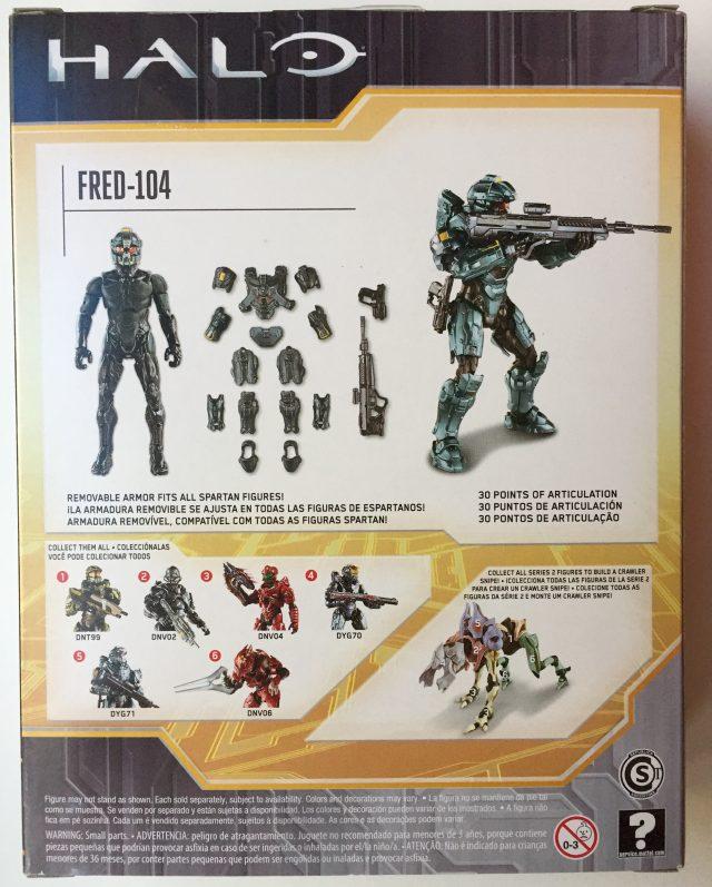 Box Back Halo 5 Spartan Fred Figure Mattel