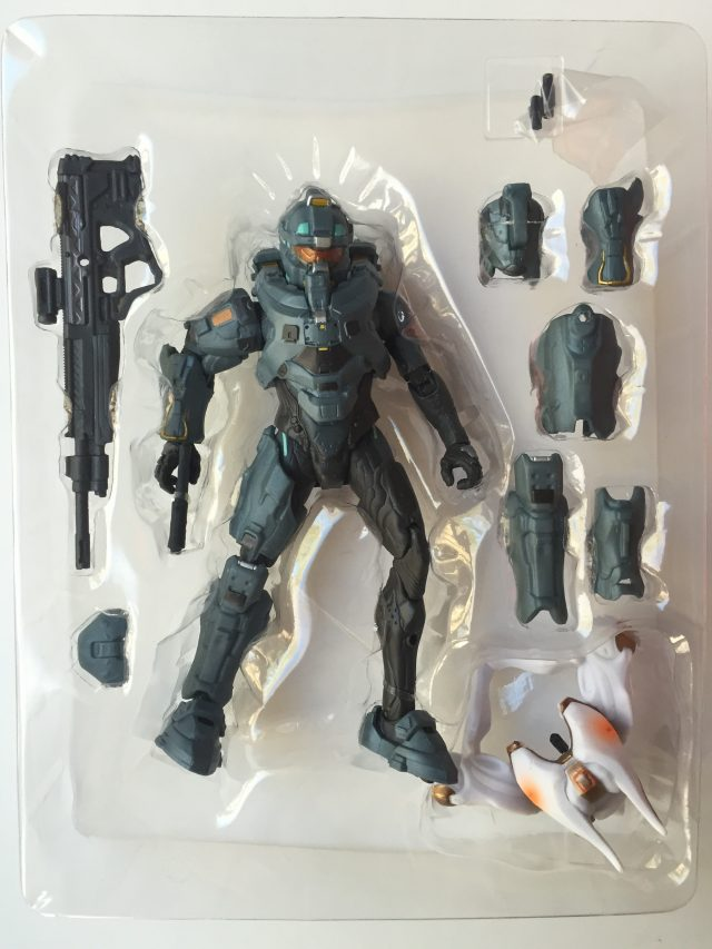 Mattel Halo 5 Frederic-104 Figure with Crawler Snipe Part