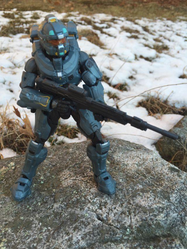 Spartan Fred-104 Halo Blue Team Mattel Six Inch Figure