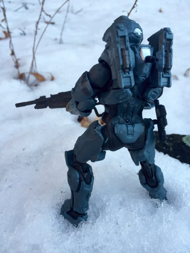 Halo 5 Guardians Mattel Spartan Fred Action Figure with Rifle in Snow