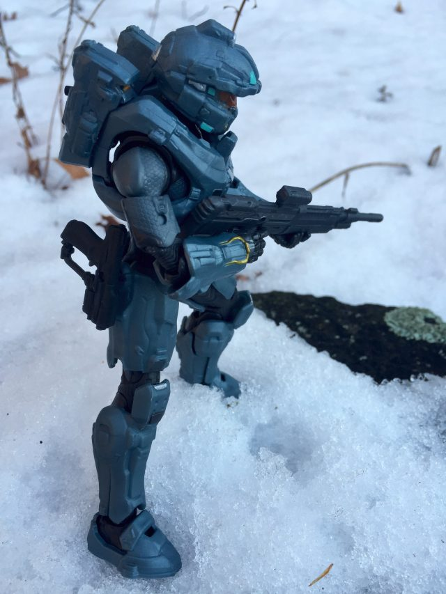 Side View of Spartan Fred 104 Mattel Halo Figure