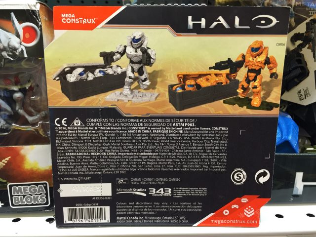 Mega Construx Halo Spartan Armor Customizer Pack II Box Back