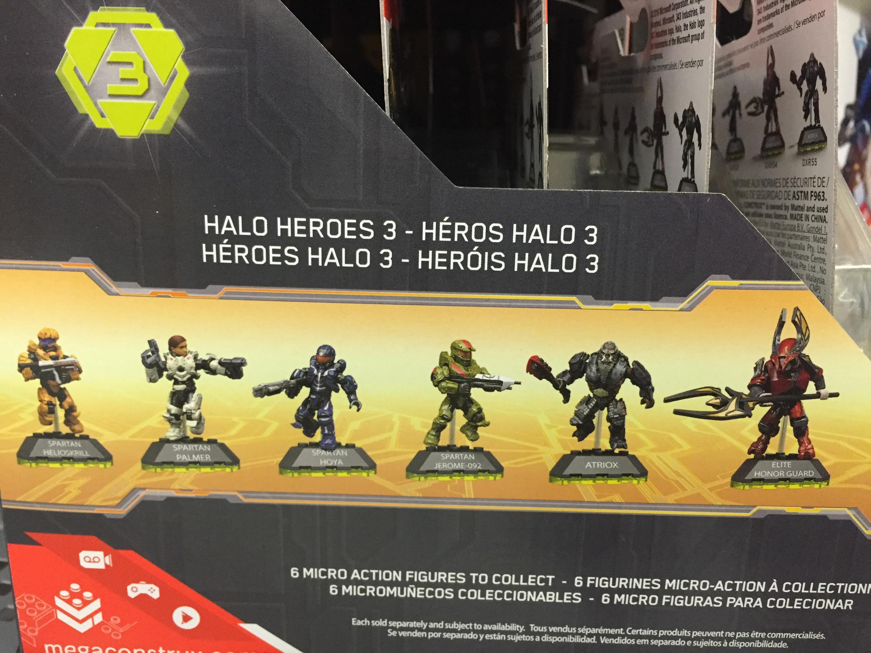 Mega Construx Halo Heroes Lot 2 Spartan Jerome-092 Atriox
