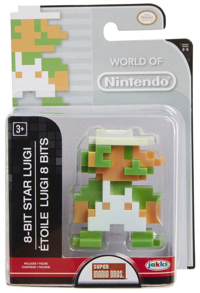 World of Nintendo 8-Bit Star Luigi Figure Wave 2-5