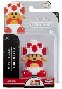 World of Nintendo 8-Bit Toad Figure