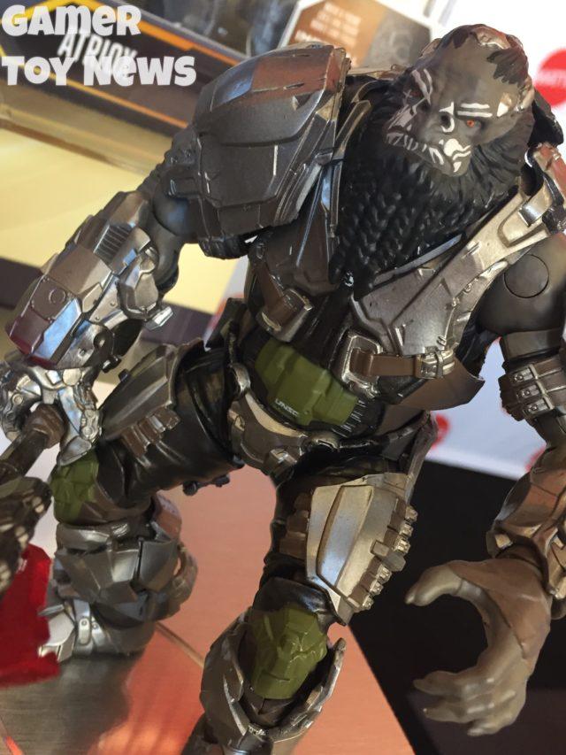 Close-Up of Mattel Halo Atriox Figure Toy Fair 2017