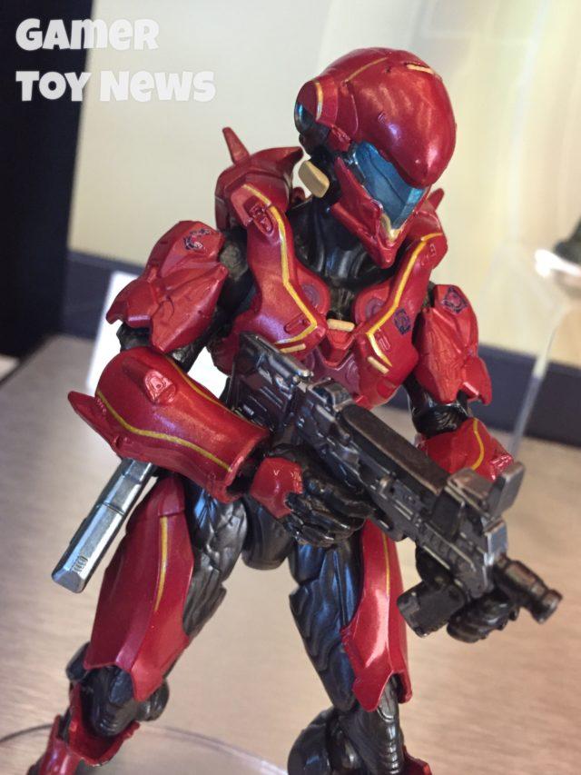 Toy Fair Halo Mattel Vale Spartan Action Figure Close-Up