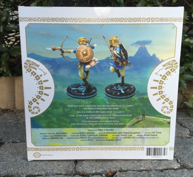 Legend of Zelda Breath of the Wild Link Statue Box Back