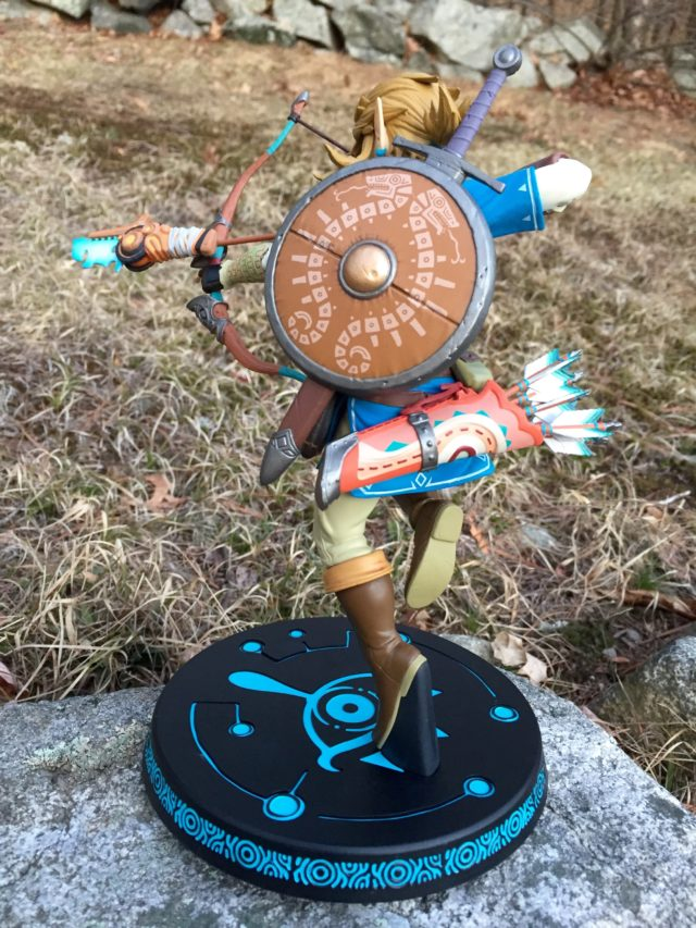 Rear View of Zelda BOTW Link PVC Statue F4F