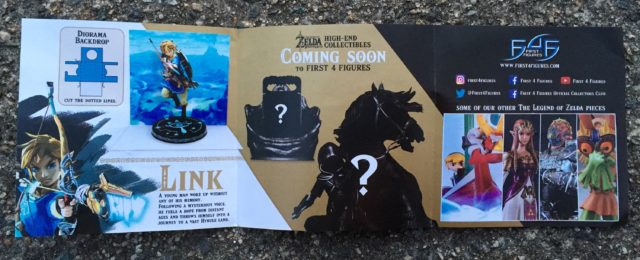 Zelda BOTW Link Statue Booklet