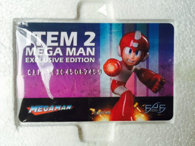 Item 2 Megaman F4F Authentication Card