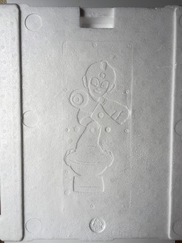 Etched Item 2 Megaman on First4Figures Styrofoam Packaging