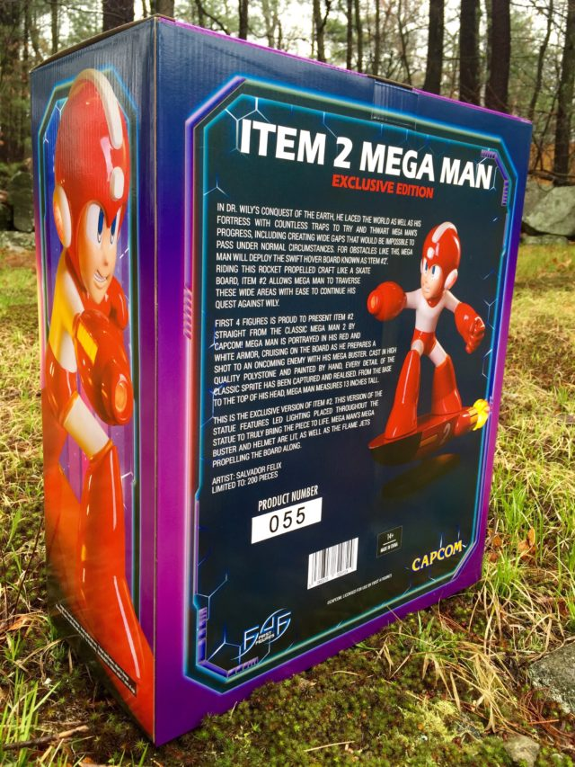 Back of F4F Mega Man Item 2 EX Box
