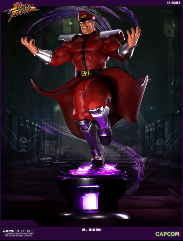 M. Bison Street Fighter Ultra Statue LED Light Up Eyes Base