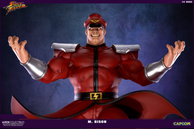 PCS Collectibles M. Bison Street Fighter Ultra Statue Close-Up