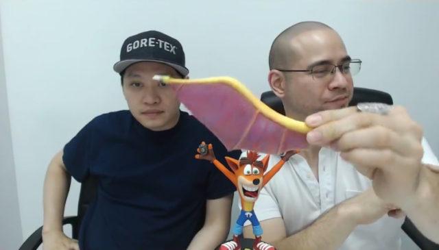 Alex Davis holding First 4 Figures Spyro Dragon Wing