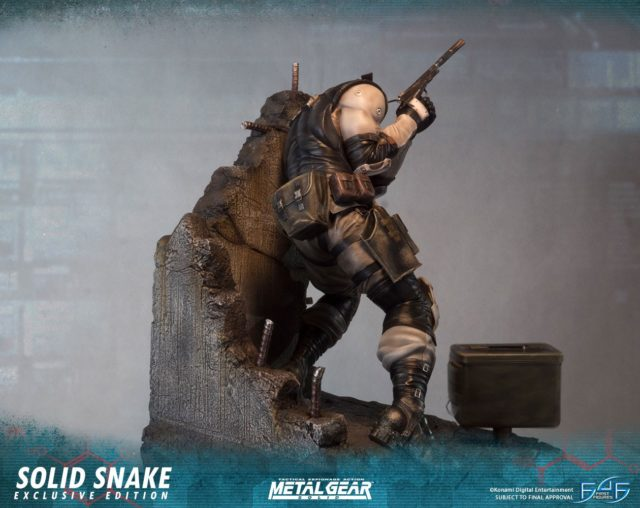 Back of First4Figures Snake Statue MGS