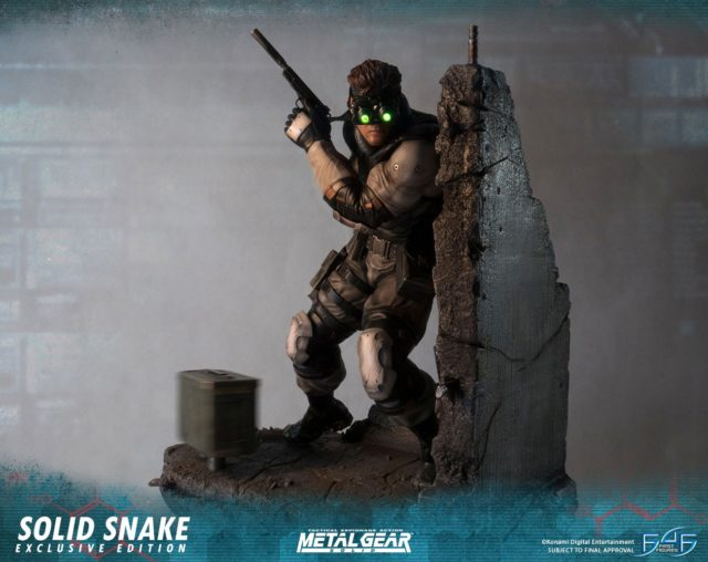 Exclusive Edition Metal Gear Solid Snake Statue First 4 Figures