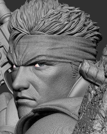 F4F Metal Gear Solid Snake Revised Face