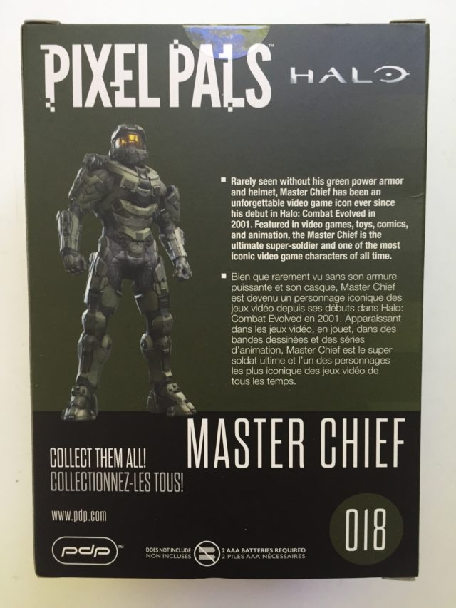 Box Back Halo Pixel Pal Master Chief