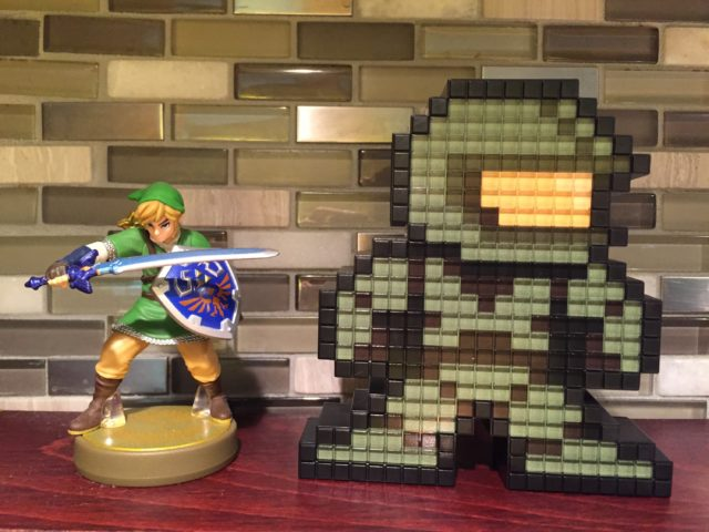 Size Comparison Zelda Amiibo and Pixel Pals Master Chief Figures
