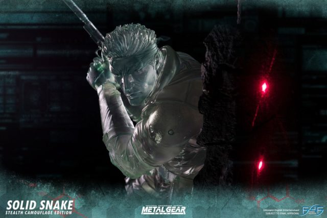 Metal Gear Solid First 4 Figures Snake Statue Clear Stealth
