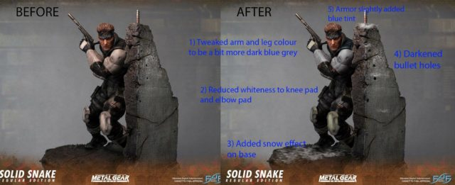Metal Gear Solid Snake Statue Revisions First 4 Figures