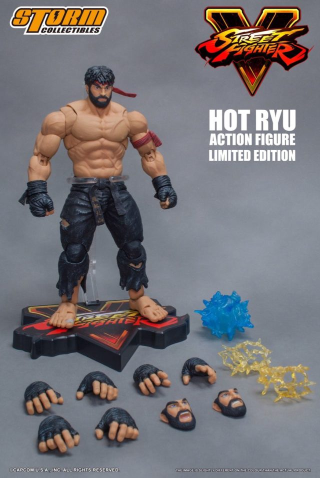 NYCC 2017 Exclusive Storm Collectibles Hot Ryu Black Pants Figure