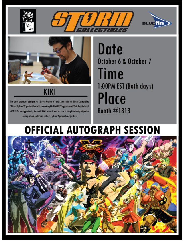 NYCC 2017 Kiki Autograph Session Storm Collectibles Street Fighter