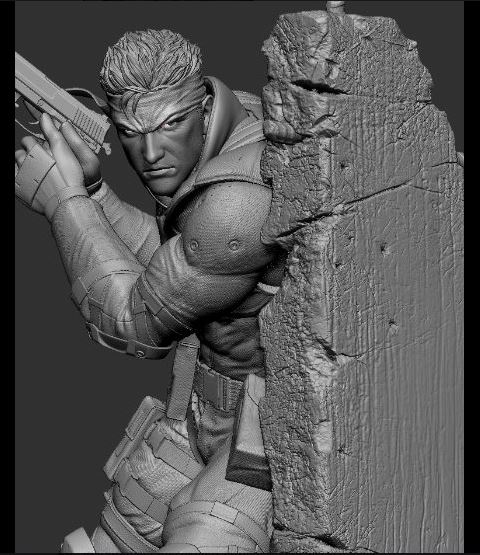 Revised Metal Gear Solid Snake Statue First4Figures
