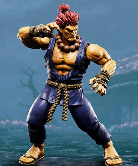 SH Figuarts Street Fighter Akuma Figure in Fighting Stance