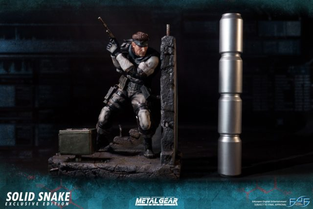 Scale Photo of MGS Snake F4F Statue