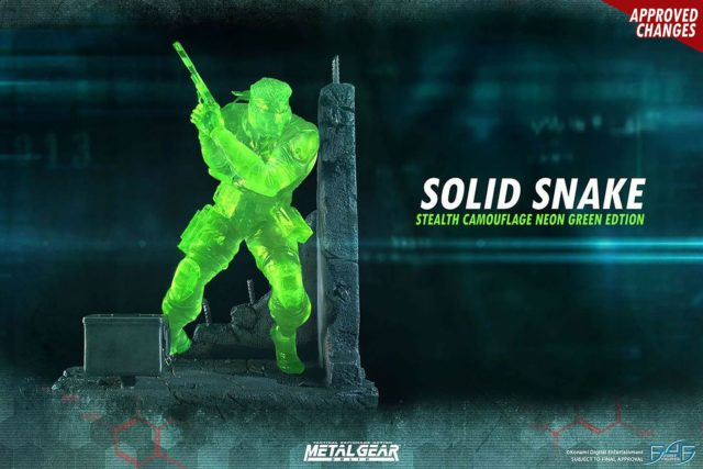 Solid Snake Neon Green Camouflage Version First 4 Figures Statue