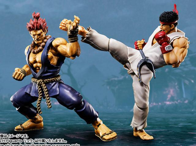 Street Fighter Figuarts Akuma vs Ryu