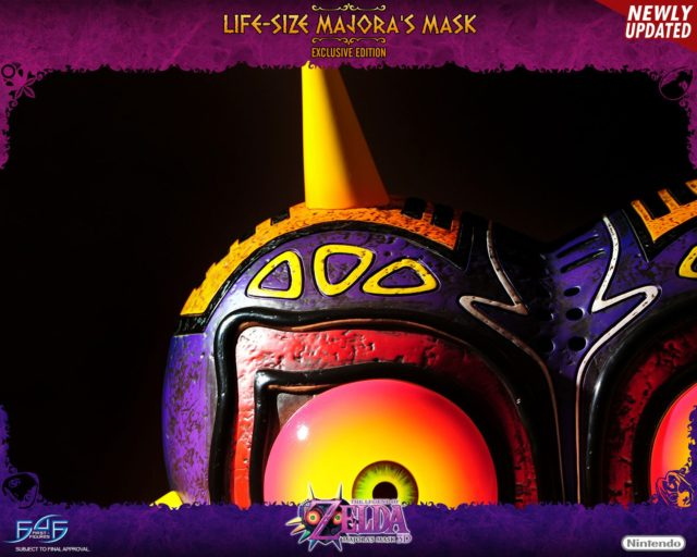 Close-Up of Texture on First 4 Figures Majora's Mask Prop Replica Updated