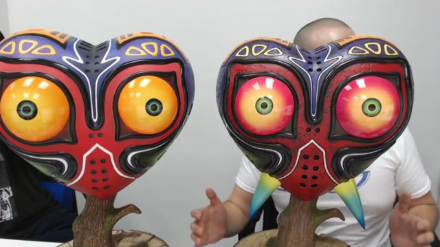Comparison of Original and Revised F4F Majora's Mask Replicas