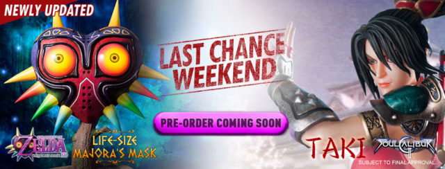 Last Chance Weekend Header for Taki and Majora's Mask Replica