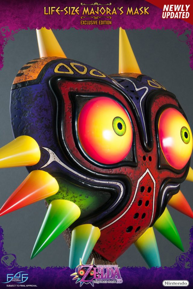 Side View of Updated F4F Majora's Mask Statue Replica