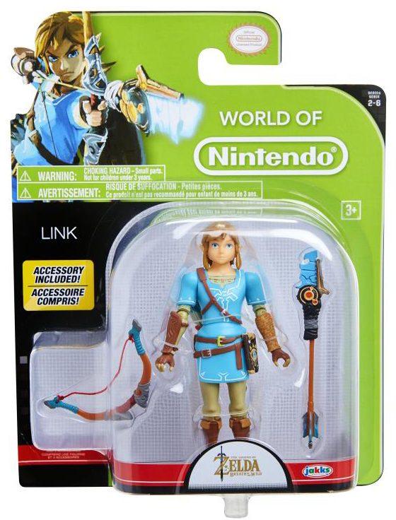 World of Nintendo BOTW Link 4 Inch Figure Packaged