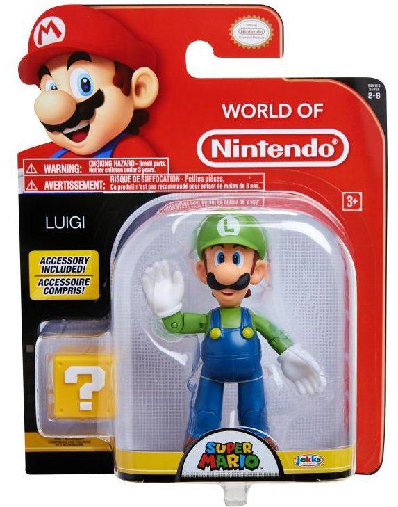 World of Nintendo Luigi Figure Series 2-6 Packaged