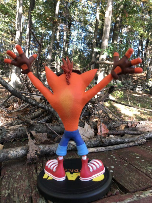 Back of First 4 Figure Crash Bandicoot PVC Figure