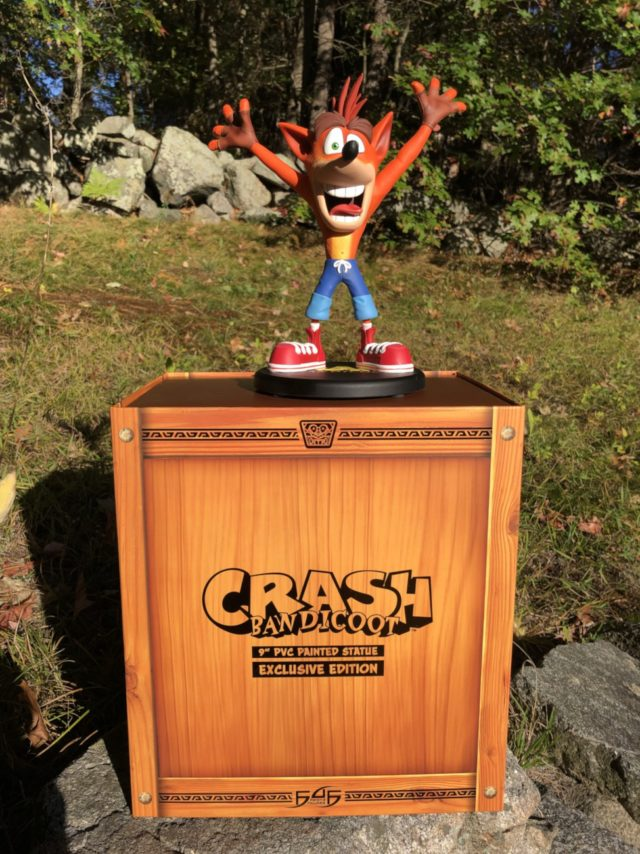 Crash Bandicoot PVC Statue F4F Exclusive Figure on Box