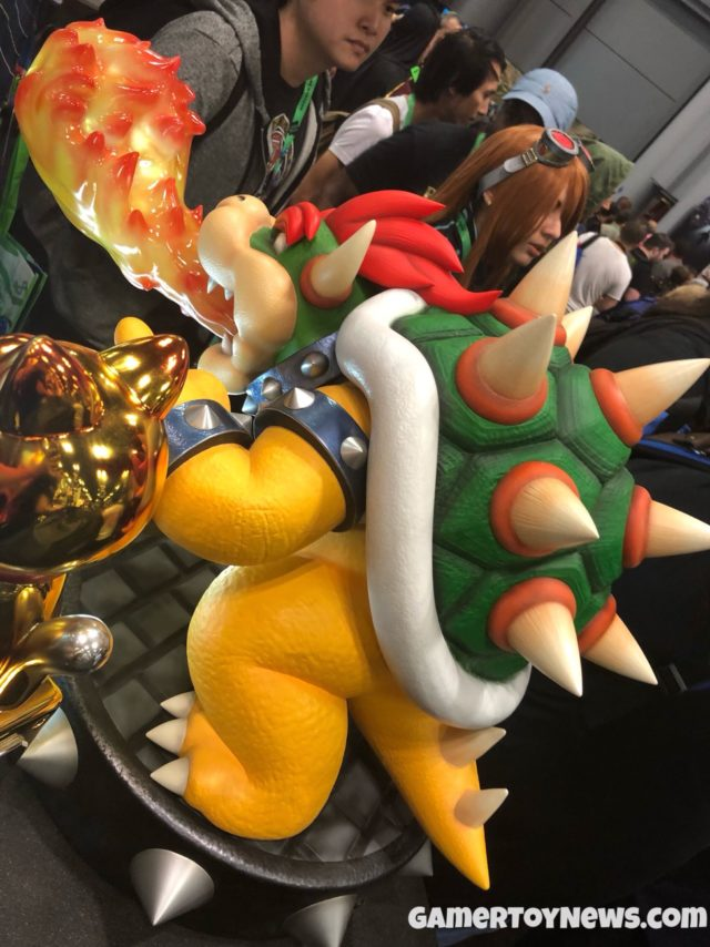 Bowser First 4 Figures Exclusive Statue Flame Breath