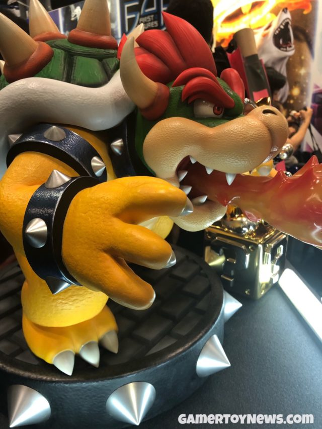 Side View of F4F Bowser Statue NYCC 2017