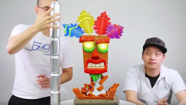 Size of Aku Aku Mask Prop Replica First 4 Figures Vs Cans