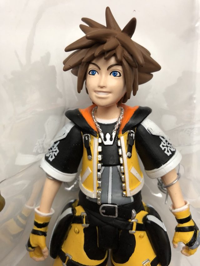 Close-Up of Diamond Select Master Form Sora Action Figure