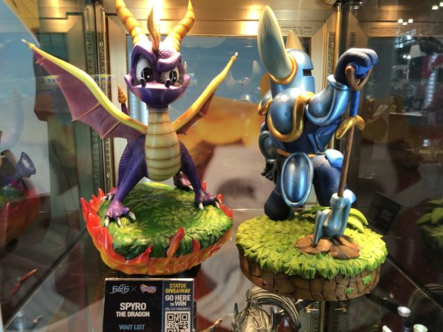 Spyro and Shovel Knight Statues at NYCC 2017